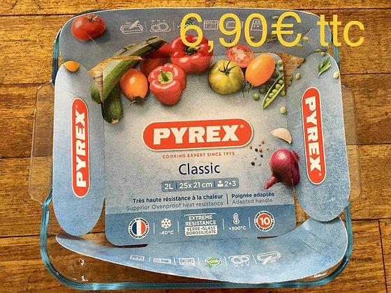 Plat verre Pyrex 25x21cm