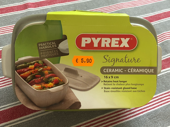 Terrine+couvercle Pyrex céramique 16x9cm