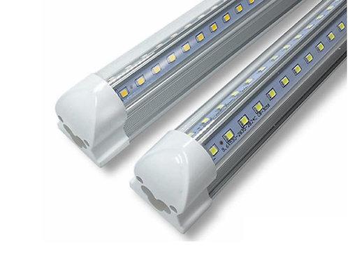 Integrated cooler 5 foot led tube clear v-shaped
