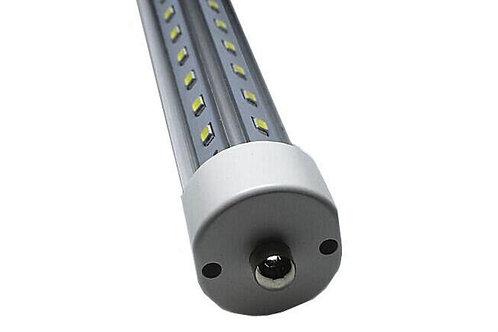 FA8 single pin 8 foot led tube clear v-shaped 72W T8