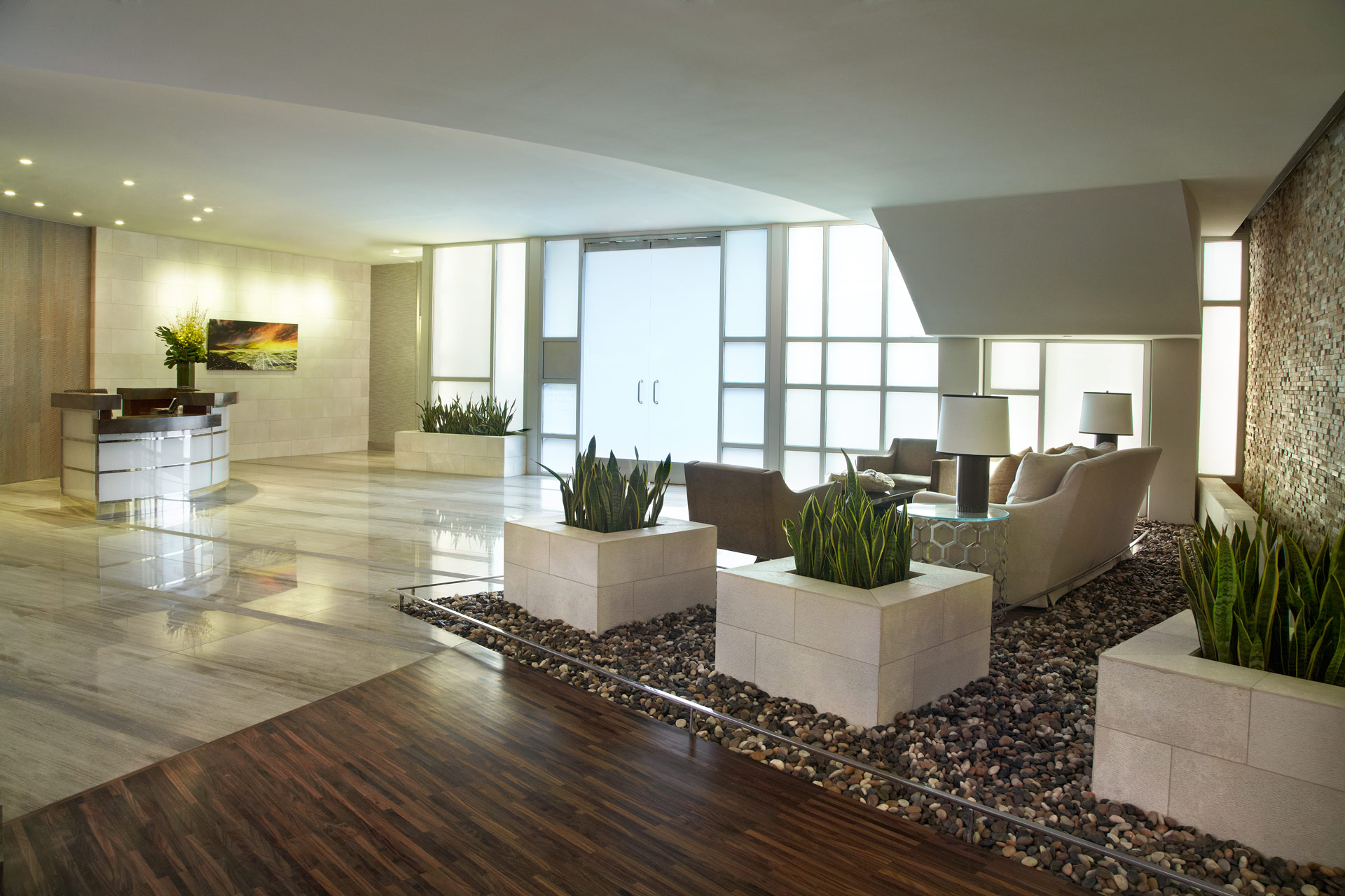 The Avenue lobby and concierge
