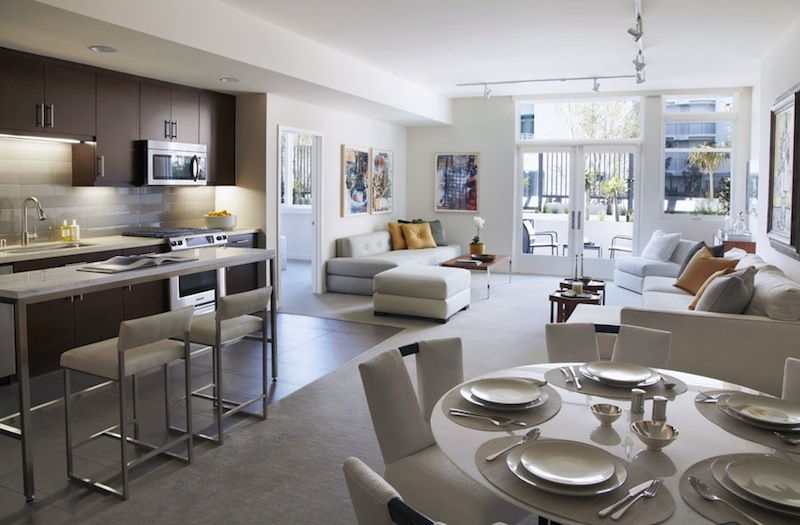 The Avenue full unit view with white walls