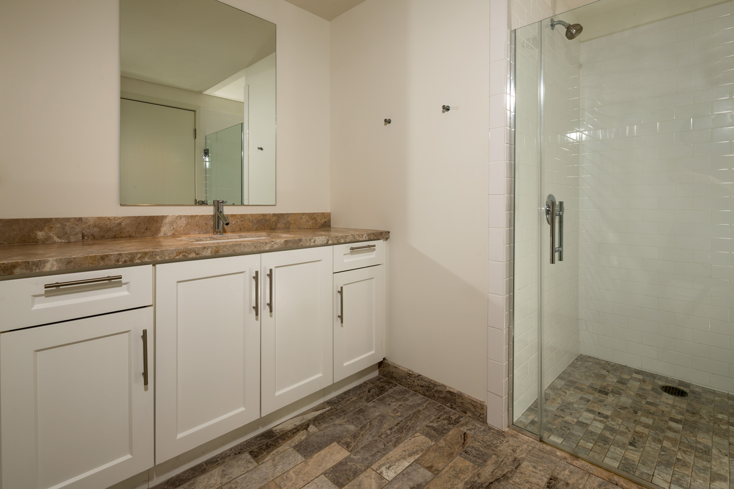 Watermarke Tower bathroom space of 1 bedroom 1 bath unit in Downtown Los Angeles