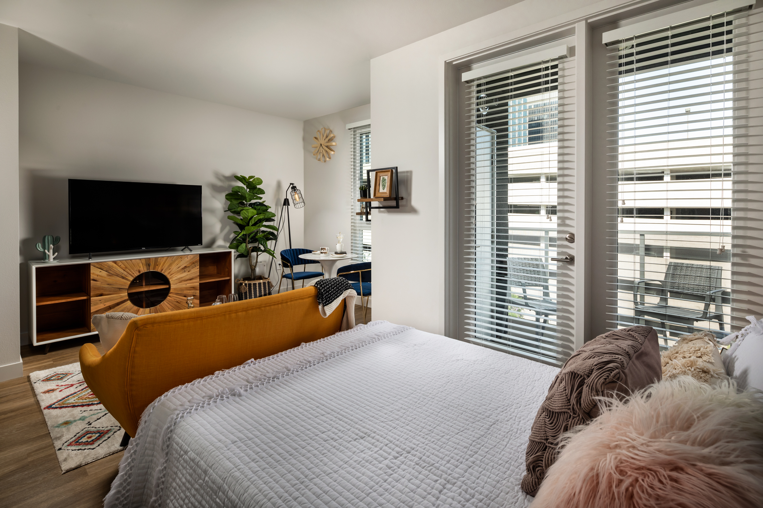 Bedroom + Living Room