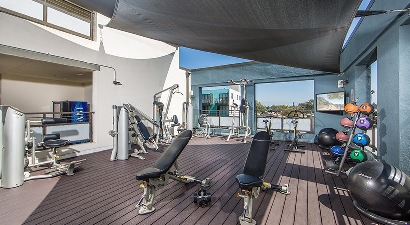 Rooftop Fitness Center