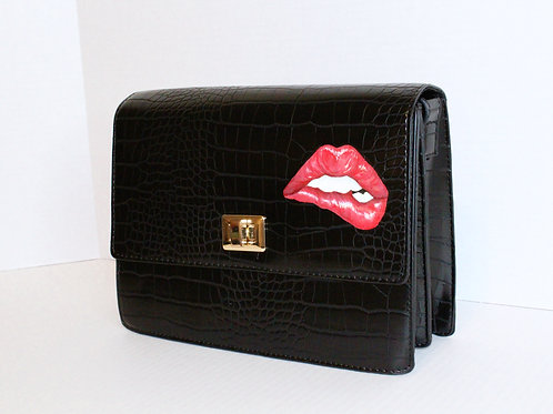 Lips crossbody bag