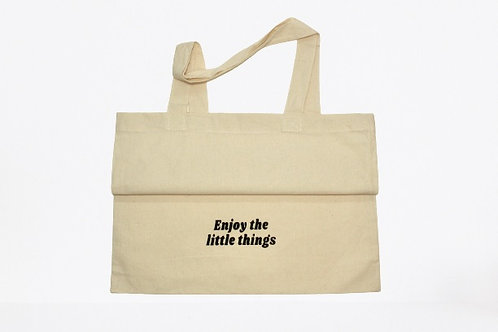 """""""Enjoy the little things"""" Canvas tote"""