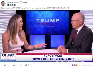 Appearances & Presidential Facebook Post: Lara Trump