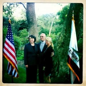 Senator Dianne Feinsten, Andy and Dee Puzder