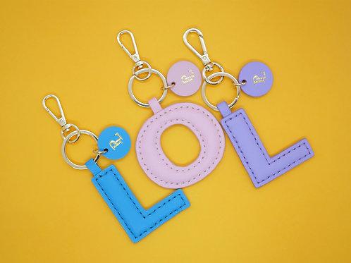 LOL Alphabet Keychain