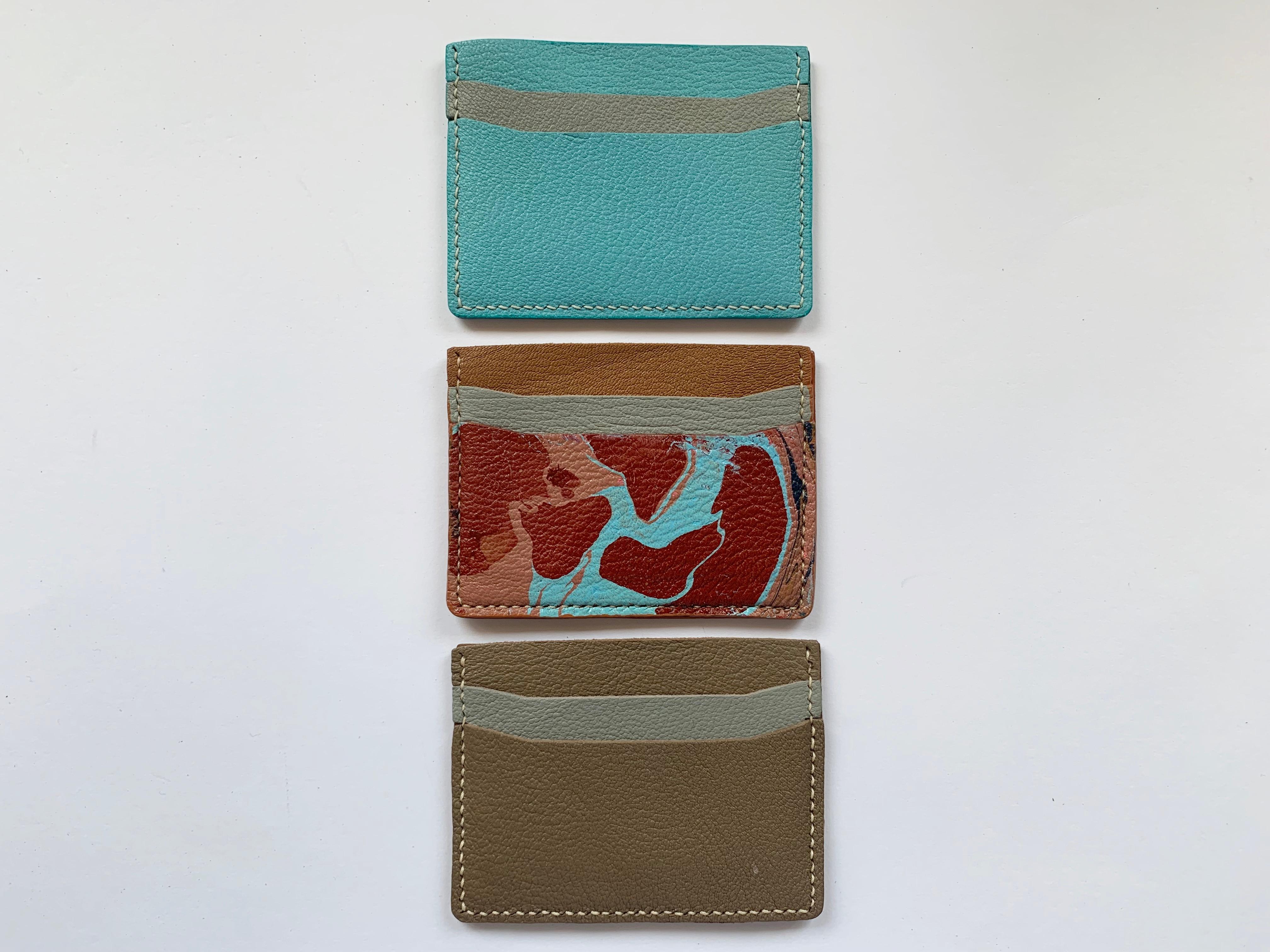 Marbled Leather Cardcase workshop