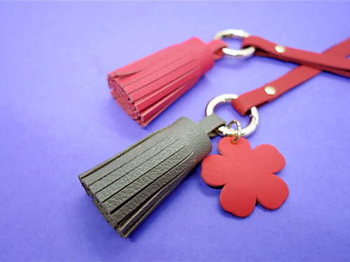 Tassels of Grace -Taupe & Rouge