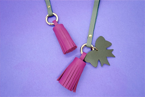 Tassels of Grace -Taupe & Fuschia