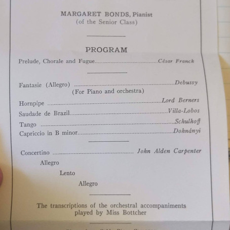 MARGARET BONDS'S SENIOR RECITAL (1933)