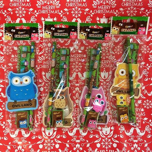 Mini Owl Stationary Set