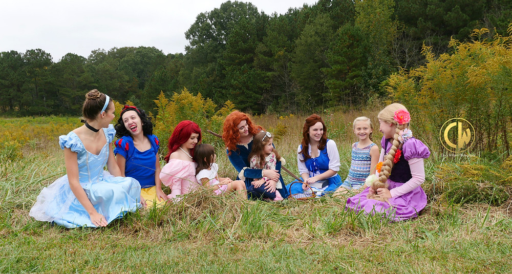 Fairytale Princesses entertain children at birthday parties and special events