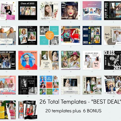 OUR BEST VALUE BUNDLE - 20 mktg templates PLUS 6 bonus templates = Total of 26
