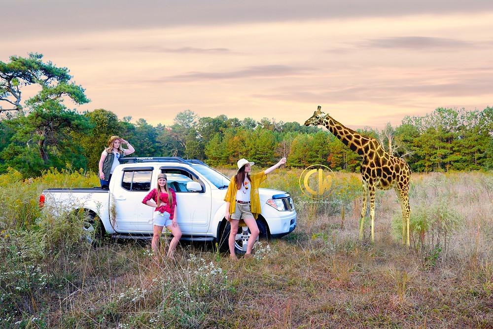 A few of our Teen Model Reps during a Safari Group Shoot