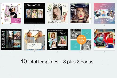 OUR SMALL BUNDLE 8 marketing templates PLUS 2 bonus templates = Total of 10