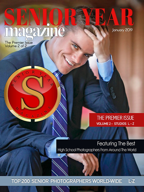 SENIOR YEAR MAGAZINE INAUGURAL Edition - Studios L-Z - DIGITAL PDF