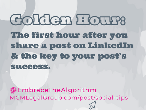 What is Golden Hour? And other tips for navigating social algorithms...