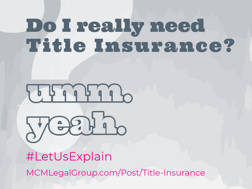 Do I really need title insurance???