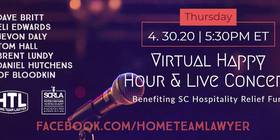 Home Team Lawyer & SCRLA Happy Hour & Virtual Concert 4.30.20