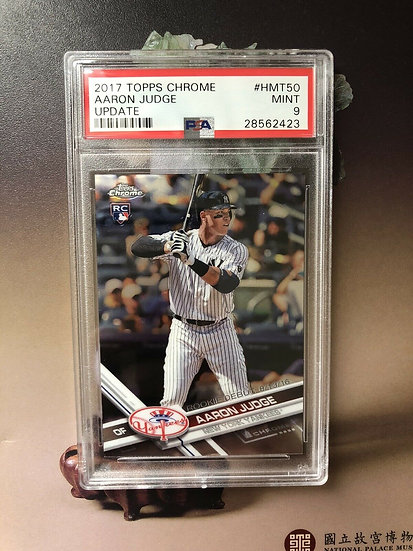 2017 Topps Chrome Update AARON JUDGE NY Yankees Rookie Card - Batting PSA 9 Mint