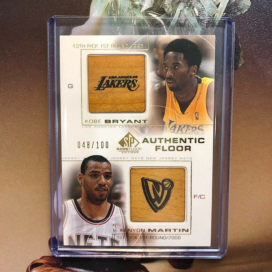 Kobe Bryant / Kenyon Martin 2000-01 UD SP Authentic Floor Combo Patch Non Auto