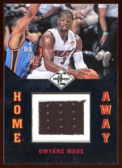 2012-13 Panini Limited ~ HOME & AWAY ROTATING JERSEY 75/99 ~ Dwyane Wade