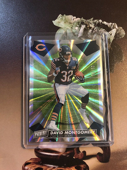 2019 PANINI DAY FOOTBALL DAVID MONTGOMERY RC Prizm FOIL #d/50 CHICAGO BEARS