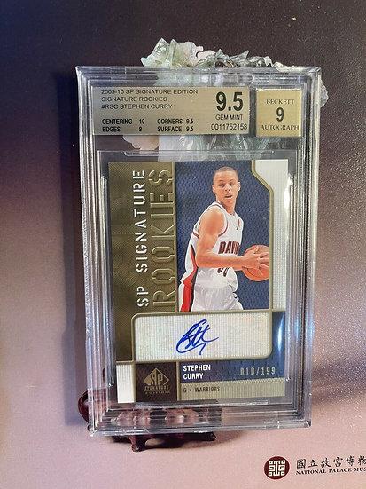 2009-10 Sp Signature Rookie Autograph Steph Curry /199 BGS 9.5 GEM MINT, 9 Auto