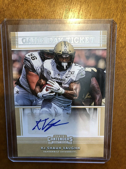 2020 Panini Contenders Draft Game Day Ticket Auto Ke'Shawn Vaughn RC Autograph