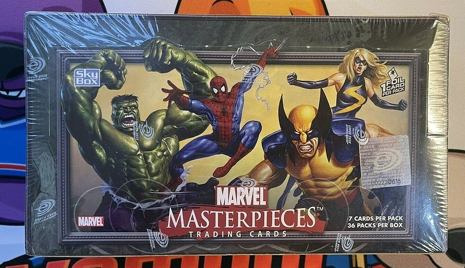 2007 MARVEL MASTERPIECES Series 1 Trading Cards SEALED BOX, 36 Packs! SCARCE