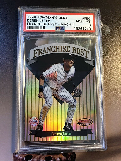 Derek Jeter 1998 Bowman's Best Franchise Best Mach II PSA 8 #FB6 #d/1000 Yankees
