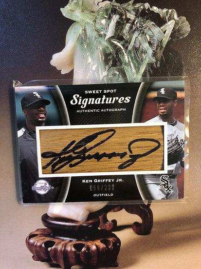 2008 Upper Deck Ken Griffey Jr. Sweet Spot Sigs #d/230 Auto On Bat Autograph HOF