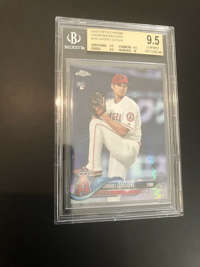 2018 Topps Chrome Prism Refractor Shohei Ohtani #150 BGS 9.5 Rookie RC Gem Mint