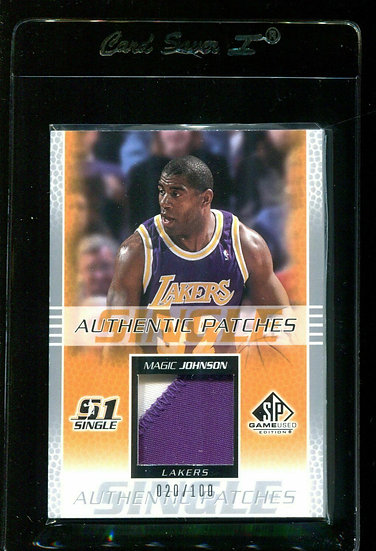 2003 SP GAME USED AUTHENTIC PATCHES MAGIC JOHNSON GAME-USED JERSEY Lakers HOF