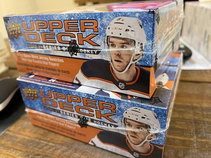 2 Box Lot: 2020-21 Upper Deck Hockey Series 1 Factory Sealed 24 Ct Retail Box