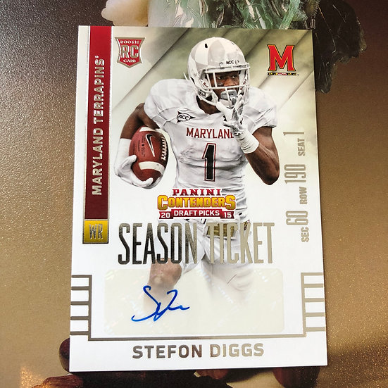 2015 Contenders Stefon Diggs Season Ticket Autograph RC #143 Auto Vikings