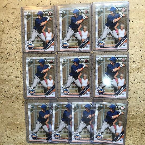 10x 2019 Bowman Draft Brett Baty 1st RC Rookie Card SP Lot Non Auto NY Mets Qty