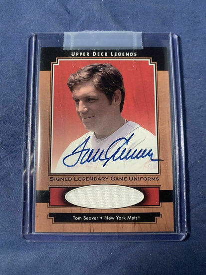 2001 Upper Deck Legends #SJTS Tom Seaver Autograph Auto Jersey SP NY METS HOF