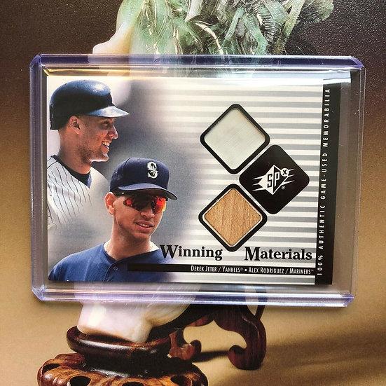 2000 SPx Winning Materials Update Derek Jeter Alex Rodriguez #DJ-AR Yankees