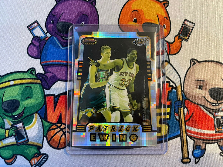 1996-97 Bowman's Best Honor Roll Atomic Refractor Karl Malone Patrick Ewing HR3