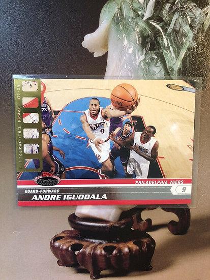 2007-08 TOPPS STADIUM CLUB Andre Iguodala PHOTOGRAPHERS PROOF GOLD #d/50 SP Rare