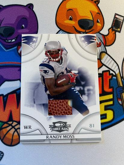 2008 Donruss Threads Randy Moss Game Used Ball #d/250 Patriots HOF