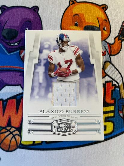 2007 Donruss Threads Plaxico Burress Game Worn Jersey #d/115 NY Giants