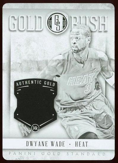 2012-13 Panini Gold Standard GOLD RUSH BLACK PRINTING PLATE 1/1 ~ Dwyane Wade