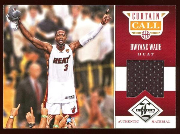 2012-13 Panini Limited ~ CURTAIN CALL JERSEY 055/199 ~ Dwyane Wade