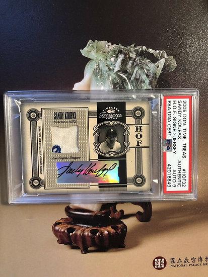 2005 Donruss SANDY KOUFAX PATCH Letter AUTOGRAPH RPA #/5 PSA/DNA Authentic AUTO